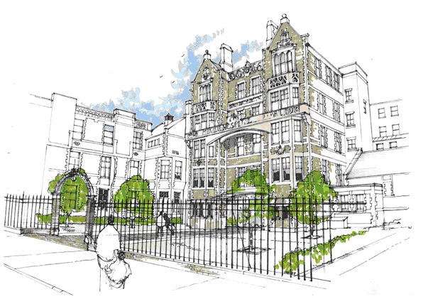 Artist's Impression of Cardiff Royal Infirmary Re-development