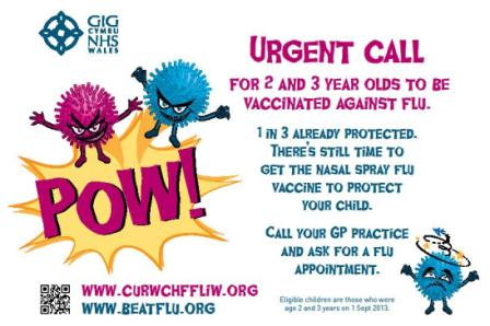 Flu poster 1 - 3 year olds